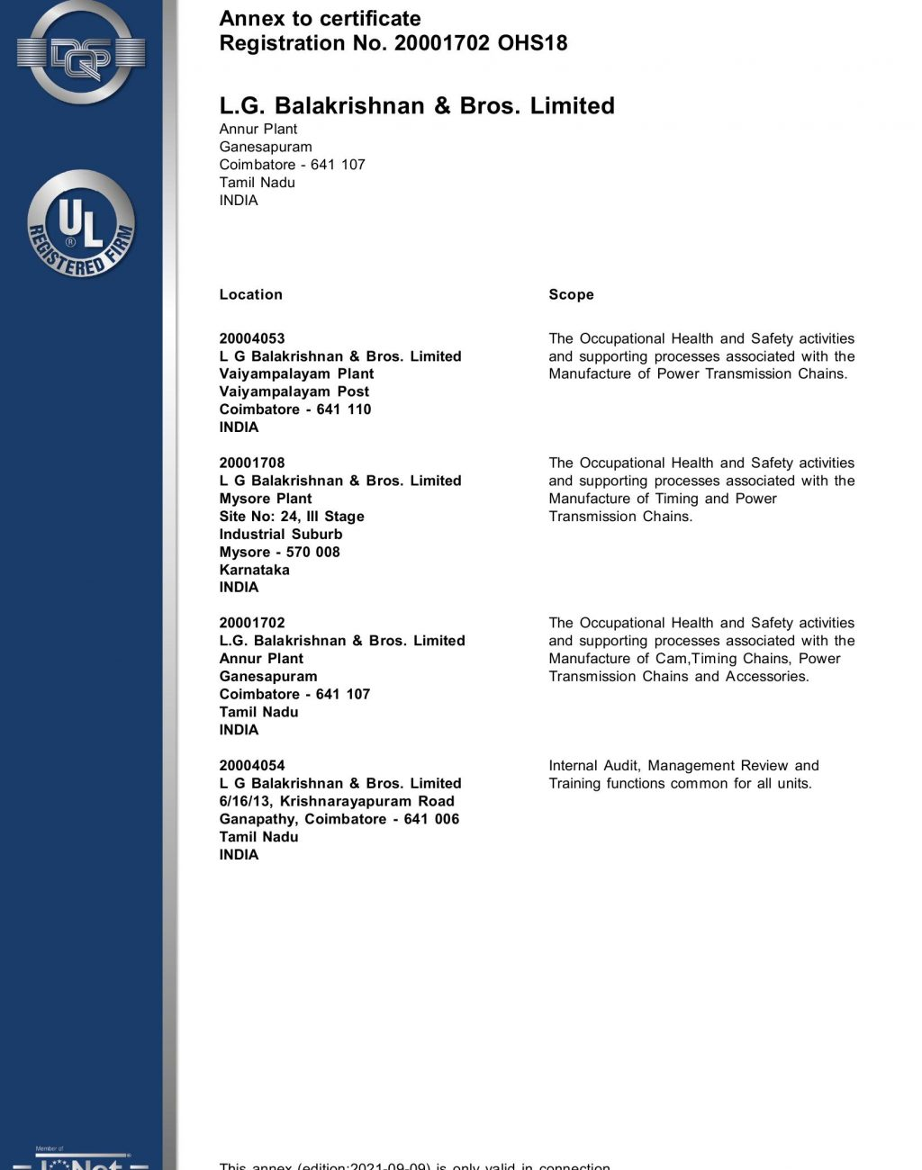 Corporate - OHS ISO 45001-2018 2