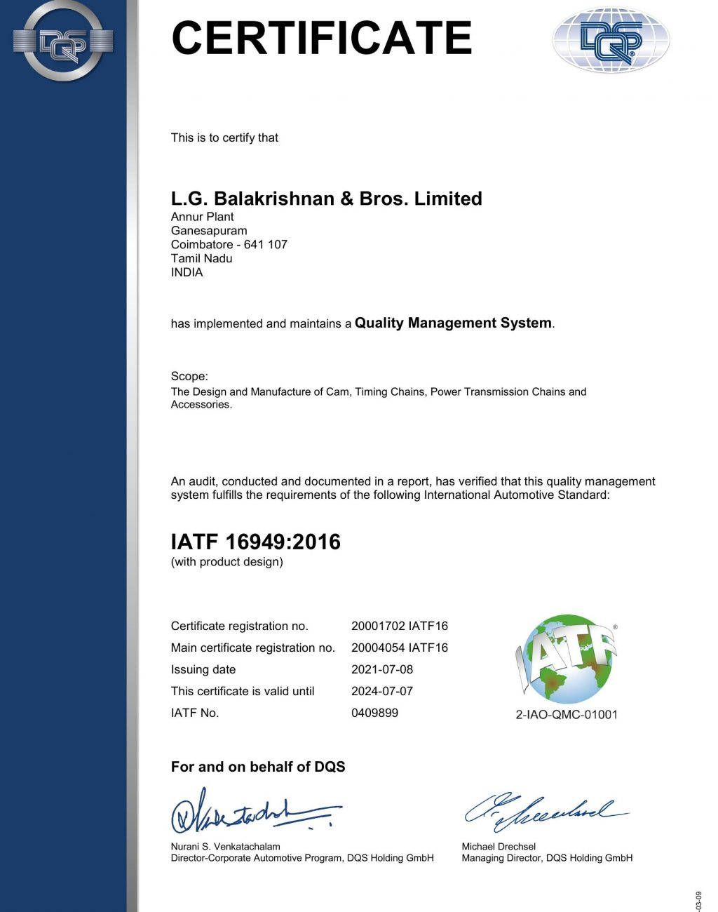 LGB Annur IATF 16949 2016