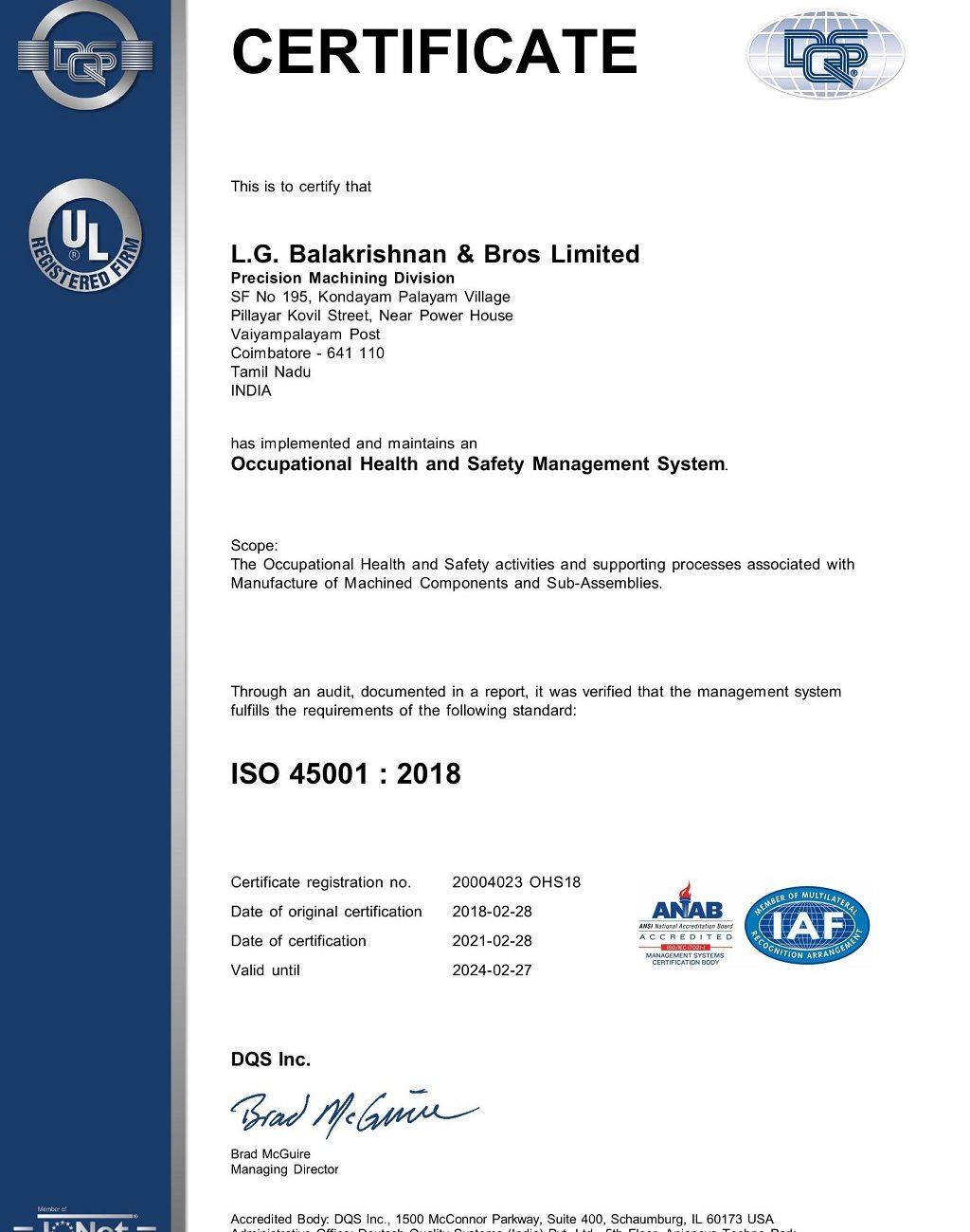 LGB PMD-K.Palayam_OHSISO 450012018