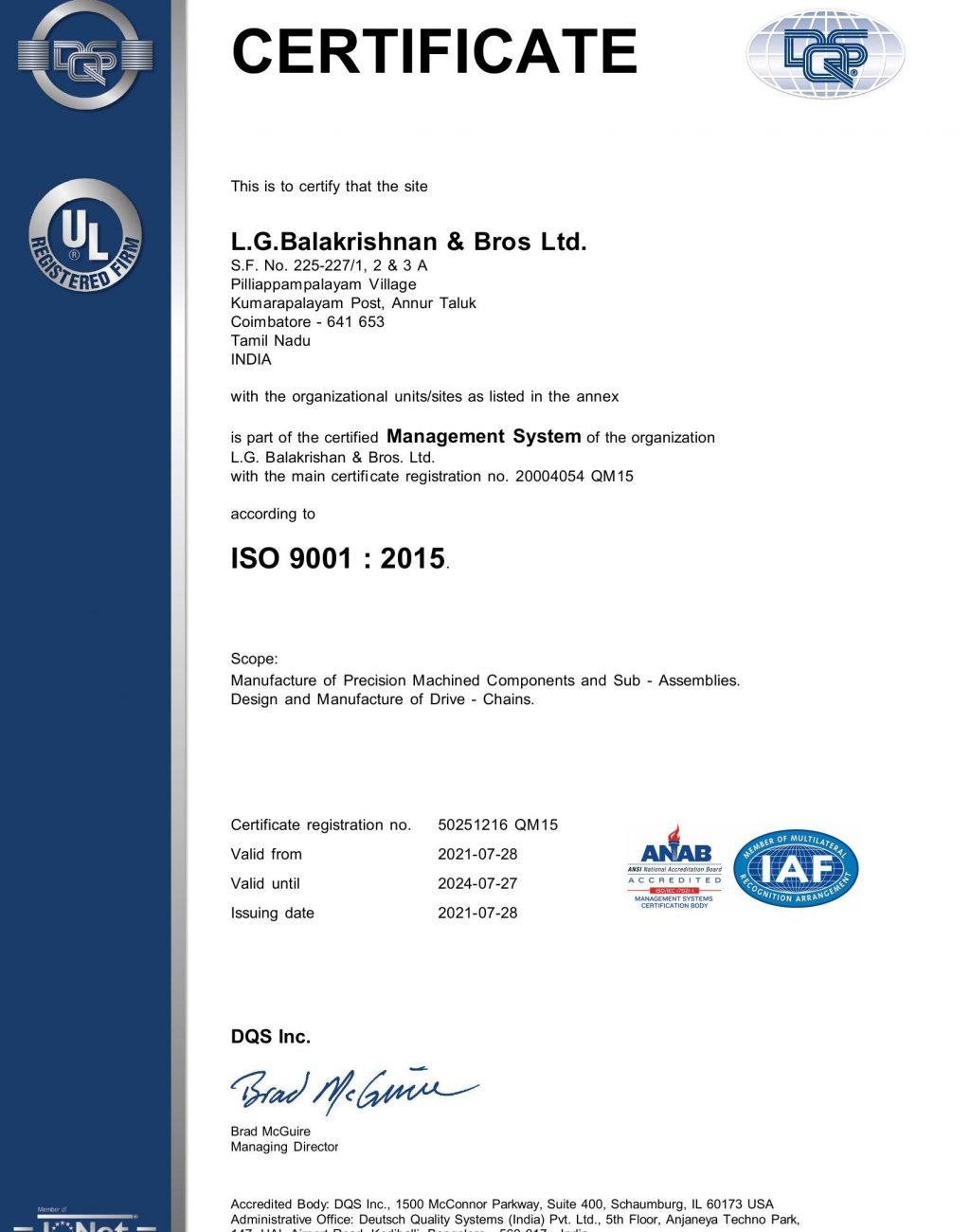 P.Palayam ISO 9001 2015